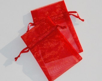 Organza Bags 3x4 inch  100  Red