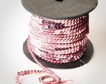10 yards, Light Pink Sequin Trim