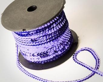 80 yard full spool, Lavender Purple Single Strand Sequin Trim