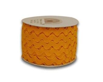 Ric Rac 5mm, 25 yard spool, Yellow Orange