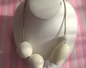 large white beaded necklace