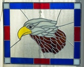 Handmade Stained Glass Eagle