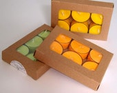 Autumn Citrus Set of Aromatherapy Soy Wax Tealights with Orange, Lemongrass and Lime Essential Oils