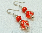 Orange Ribbon Leukemia Cancer Awareness Beaded Earrings