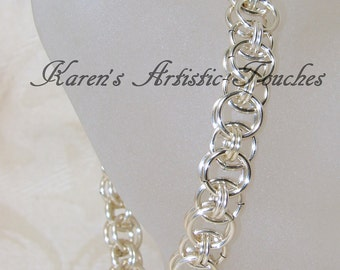 Silver Helm Chain Design Chain Maille Mail Bracelet 2