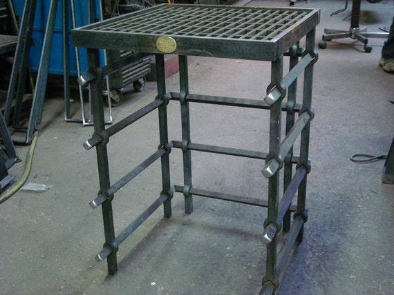 Hot Pierced Steel End Table
