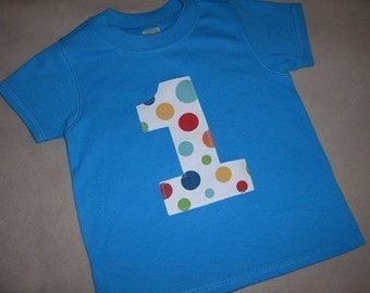 Infant/Toddler Boys First 1st Birthday Big Dot 1 Shirt 12m 18m 24m