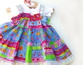 Colorful Cotton Baby Dress Baby Girl Clothes 1st Birthday Dress Baby Summer Dress Infant size 3 6 9 12 18 month Pink Blue Baby Party Dress