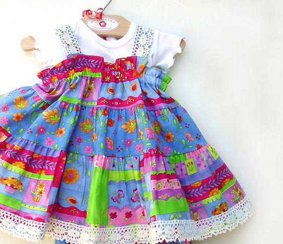 Colorful Cotton Baby Dress Baby Girl Clothes 1st Birthday