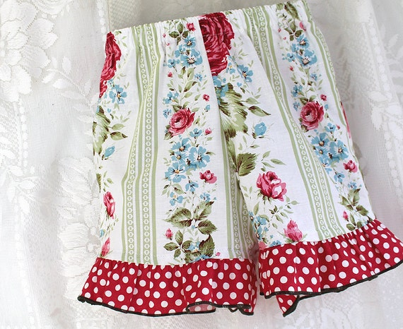 Red Rose Toddler Girls Ruffle Shorts Polka Dot  Boutique Girls Clothes Baby Toddler size 12m 18m 2T 3T 4T Girl Shorts  Cotton Kids Clothing