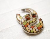 Bright big earrings - Hoop earrings - Boho jewelry  (E068)