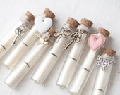Secret Message in a Bottle - Beach wedding card in bottle - Bridesmaid proposal - Secret message card - Choose your style