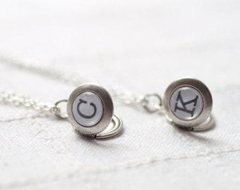 Initial locket - Monogram necklace - Personalized jewelry - Custom locket - Tiny Silver locket necklace - Men locket - wedding locket (L012)