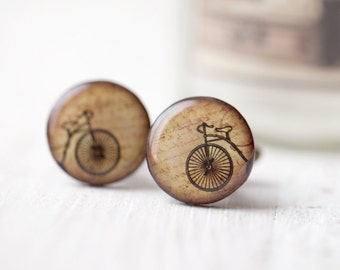 Retro Bicycle Cufflinks - Bike lover gift - Men cufflinks (C005)