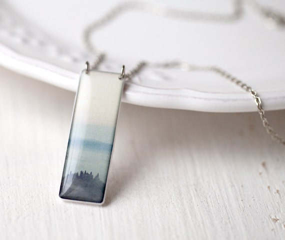 Blue Mountains necklace - Photo jewelry - Tuscany (N074)