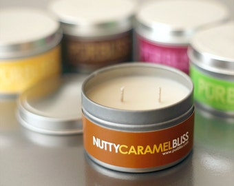 NUTTY CARAMEL Soy Candle - Travel Tin