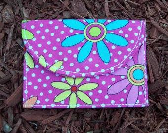 Flowered Wallet/Card Holder