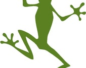 Frog car vinyl decal