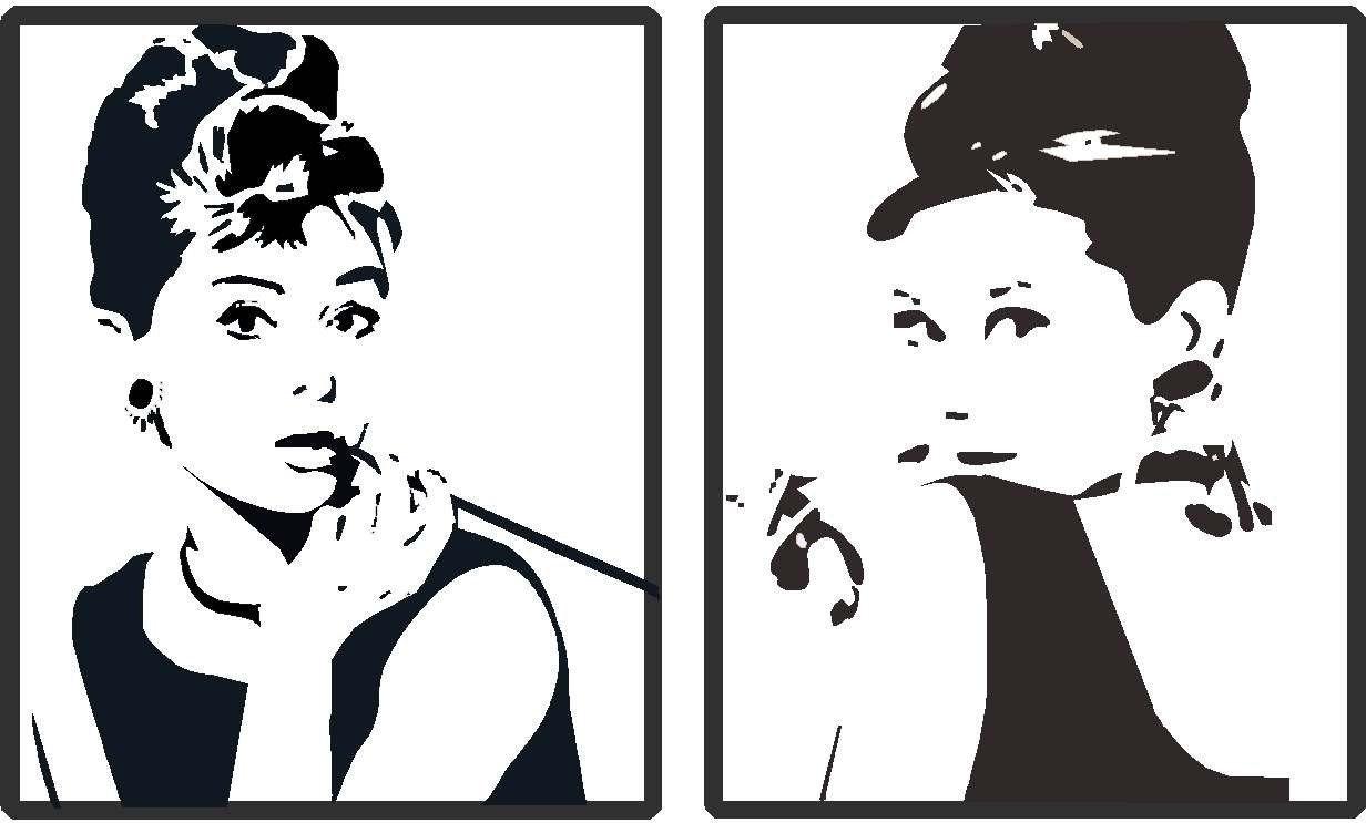 audrey hepburn vinyl silhouettes