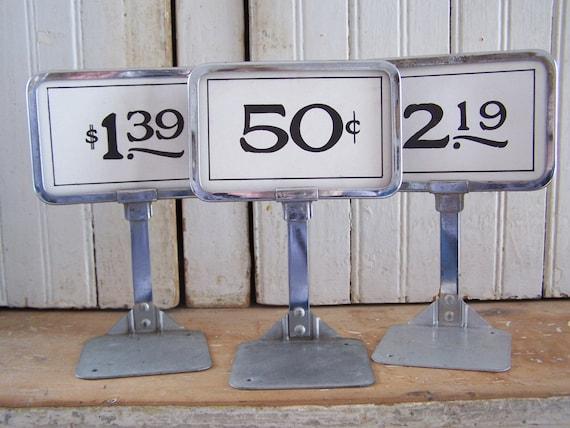 Vintage Store Price Display Stand By Hogsandhominy On Etsy