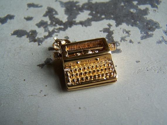 Vintage Typewriter Charm - Monet