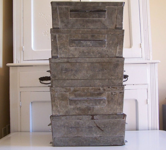 Vintage Industrial Stacking Box