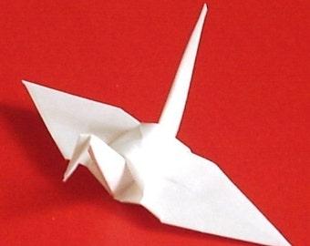 100 Small Origami Cranes Origami Paper Cranes Paper Crane Origami Crane - Made of 7.5cm 3 inches Japanese Paper - White