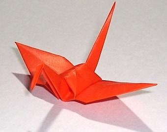 100 Small Origami Cranes Origami Paper Cranes Origami Crane - Made of 7.5cm 3 inches Japanese Paper - Dark Orange