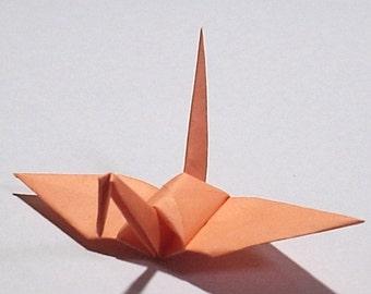 100 Small Origami Cranes Origami Paper Cranes Paper Crane - Made of 7.5cm 3 inches Japanese Paper - Pale Orange
