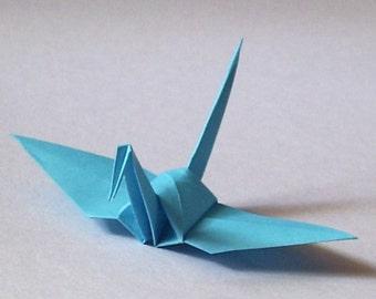 100 Small Origami Cranes Origami Paper Cranes Origami Crane - Made of 7.5cm 3 inches Japanese Paper - Light Blue
