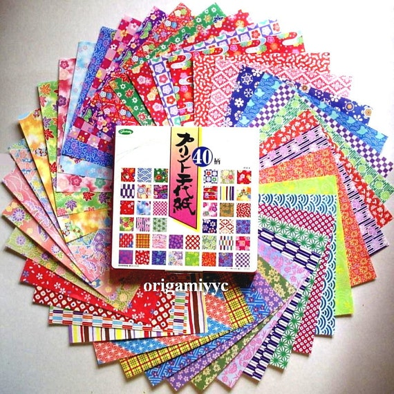 200 Sheets Japanese Print Chiyogami Origami Paper - 15cm 6 inches - 40 Patterns - Made in Japan