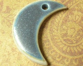 Blue Moon Pendant Bead - High Fired Handmade Porcelain
