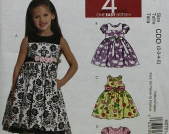 McCall's M5793 Girl's Dress Sewing Pattern New/Uncut Size(2-3-4-5)