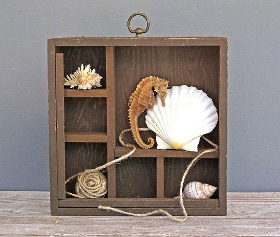 rustic wood cubby display shelf handmade