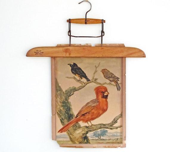 vintage wooden hanger - wall decor - picture hanger