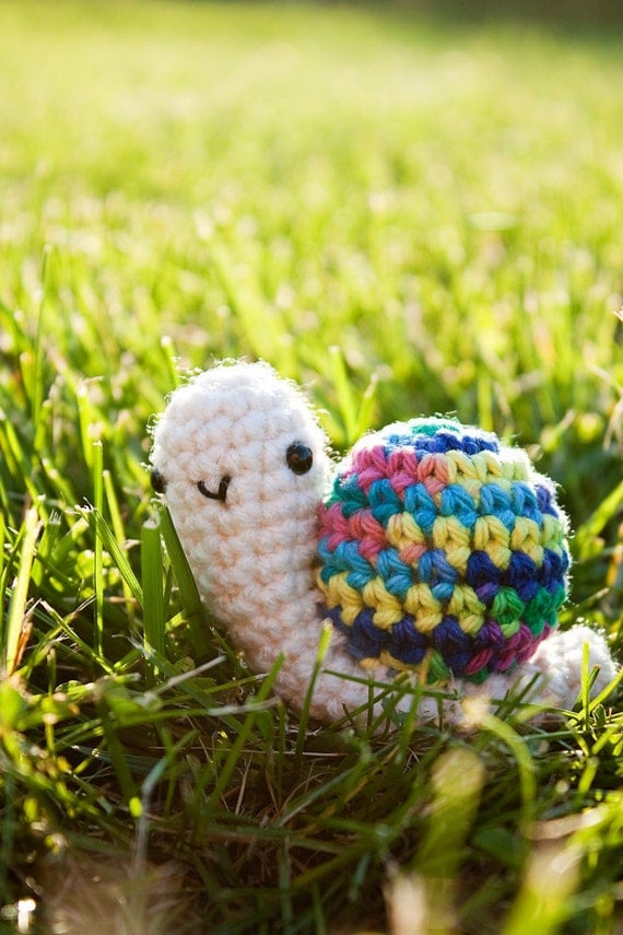 Made to order Wee snail amigurumi plushie by FallenDesigns