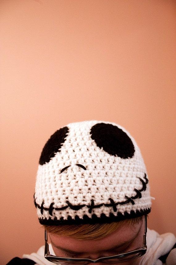 Jack Skellington crochet beanie hat