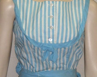 Vintage 1950's Ralph Originals Full Circle Dress Skirt Blouse Outfit Set Small Size 6