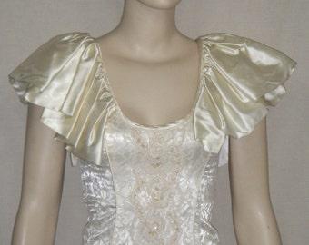 Deadstock Vintage Karen Okada Climax Mermaid Ruched Dress Gown 5