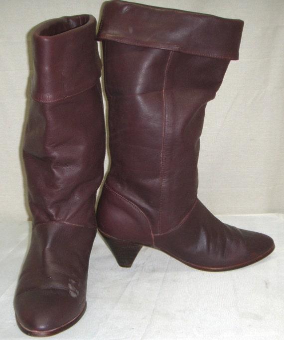 Vintage Frye Womens Cuff Pirate Boho Boots 10m Western Cowboy
