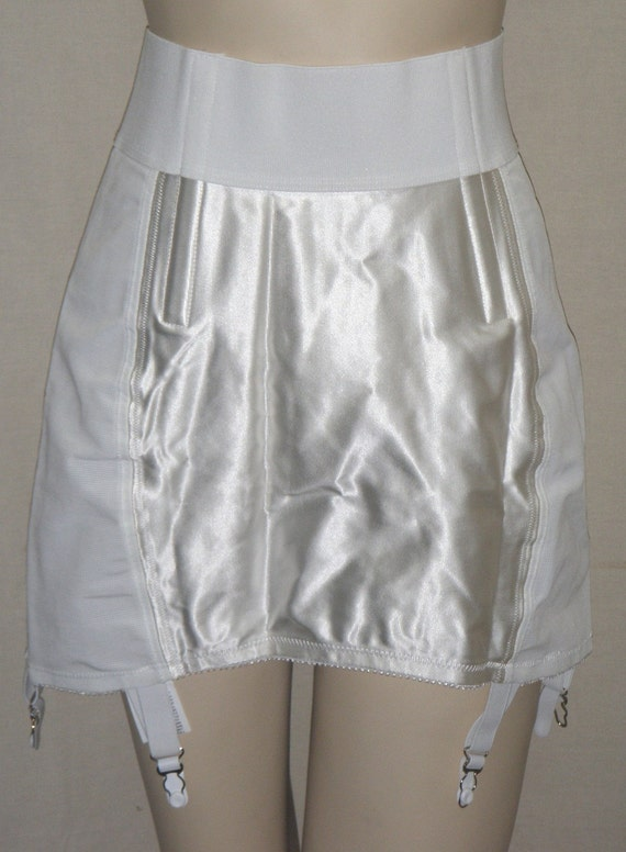 vintage satin panel skirt dress girdle size 36 deadstock