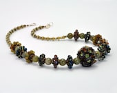Earth Tone Necklace, Handmade Necklace, Grace