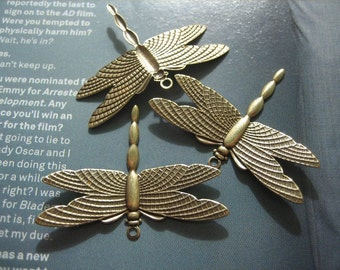 Dragonfly pendant Antique Brass (3)
