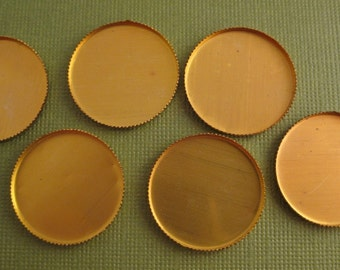 Brass round bezel settings (10)