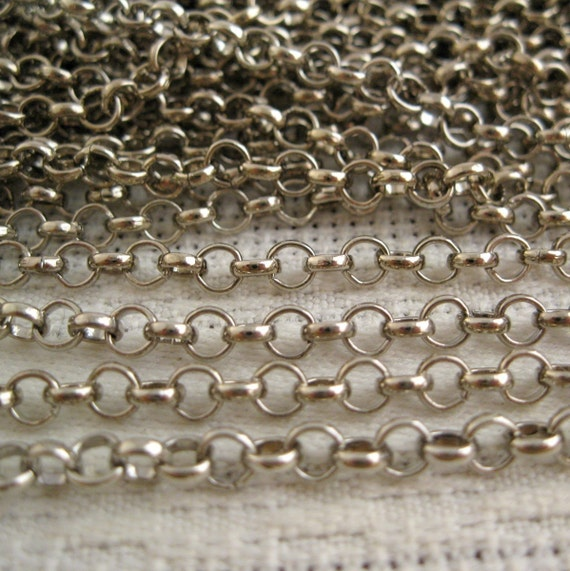 6 FT Silver Rolo Chain (4 mm)