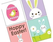 Exciting Cute Easter Imges - Eggs Bunnies and Birdies -Scrabble Tile Images - Buy 2 Get 1 Free