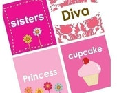 Diva Girly Sayings - (1x1) One Inch Pendant Images - Digital Sheet - BUY 2 GET 1 FREE