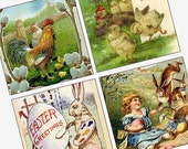 Victorian and Vintage Easter Images - Scrabble Size Pendant Images - Buy 2 Get 1 Free - Instant Download - .75x.83 Inch - Digital File