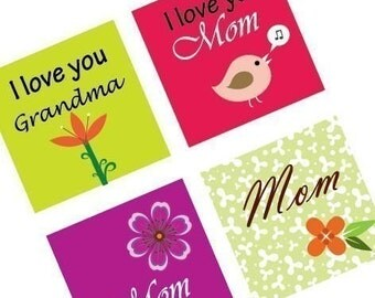 Funky Mother's Day - Scrabble Size Pendant Images -Digital Sollage - BUY 2 Get 1 FREE