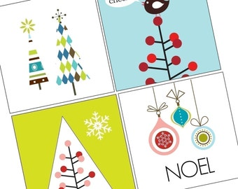 Vivid Christmas- (1x1) One Inch Pendant Images - Digital Collage sheet - BUY 2 GET 1 FREE